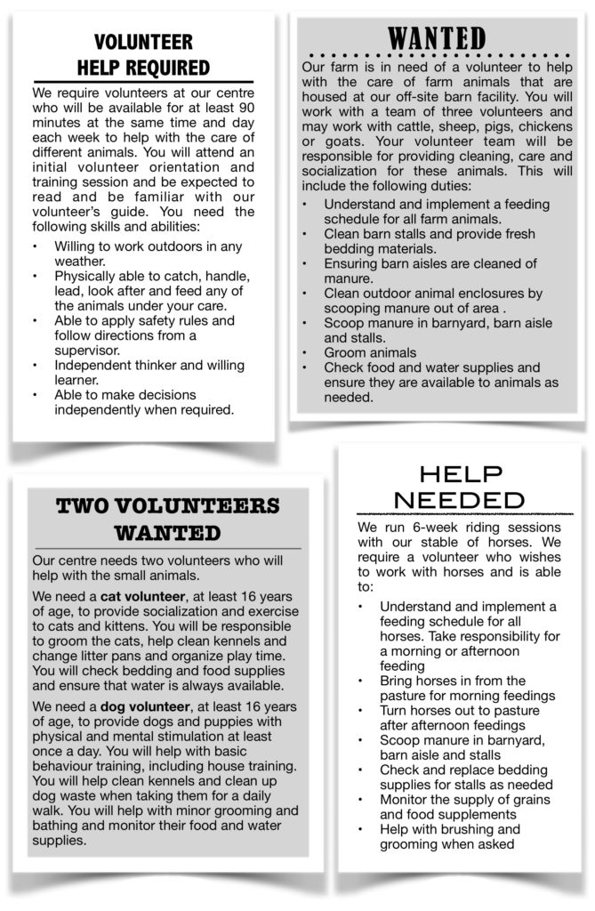 Help Wanted advertisements