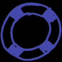 Icon of a lifebuoy